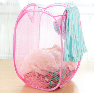 Pink Color Laundry Basket for Dirty Clothes pictures & photos