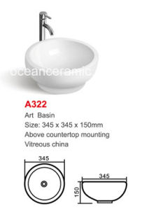 Ceramic Round Washing Art Basin Sanitary Ware No. A322 pictures & photos