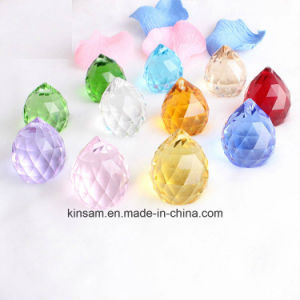 Coloured Crystal Glass Bead for Chandelier pictures & photos