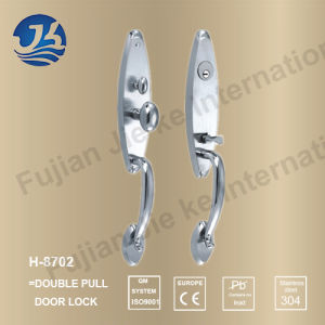 High Quality 304 Stainless Steel Door Lock (H-8702) pictures & photos