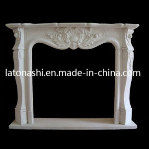 Modern Style White Stone Marble Fireplace Surround Fireplace for Indoor pictures & photos