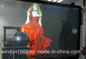 3D Holographic Advertising Projection Film / Transaprent Projetor Screen Film pictures & photos