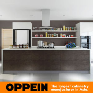 Modern White Acrylic Spain Sintered Rock Wood Kitchen Cabinets (OP16-A02) pictures & photos
