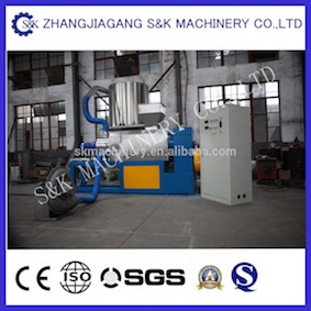Plastic Film Pelletizing Extruder with Squeezing Function/ Squeezer Recycling Machine pictures & photos