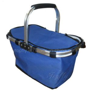 Zipper Closed Foldable Ice Cooler Basket with Single Frame pictures & photos