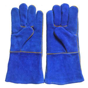 Heavy Duty Heat Resistant Working Safety Protection Welding Gloves pictures & photos
