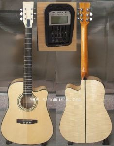 Aiersi Solid Top Electric 41 Inch Dreadnaught Acoustic Guitar pictures & photos
