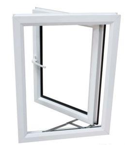 Plastic UPVC Casement Double Glass Swing Window Durable Glazed Window