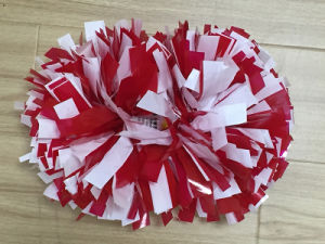 Wet Look Red and White Mix POM Poms pictures & photos