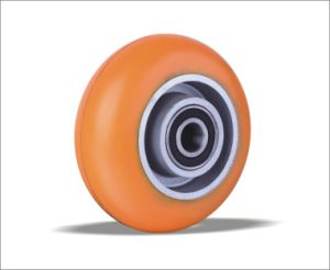 Rubber Medium Heavy Duty PU Coloured Wheels pictures & photos