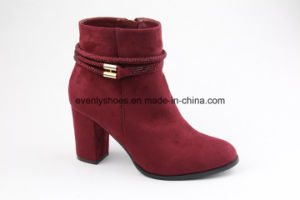 New Sexy Block Heel Fashion Women High Heel Boots pictures & photos