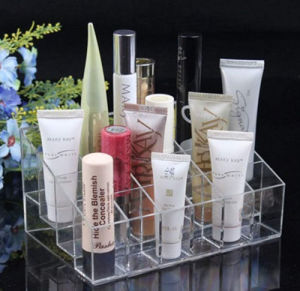 Clear Acrylic Lipstick Skincare Makeup Cosmetic Display pictures & photos
