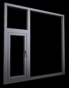 Bronze Anodized Aluminium Frame Glass Windows pictures & photos