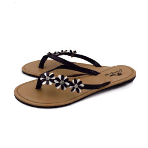 Slim Fashion Strap Flip Flops for Lady pictures & photos