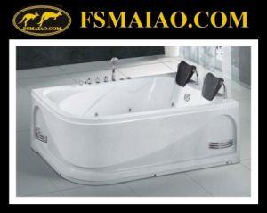 Popular Two-Seats Acrylic Bathroom Jacuzzi Bathtub (BA-8721) pictures & photos