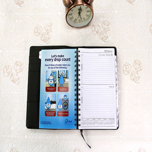 Leather Soft Cover Wire-O Note Book with Spiral Binding pictures & photos