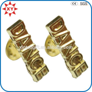Wholesale Free Mold Enamel Personalized Gold Lapel Pins pictures & photos