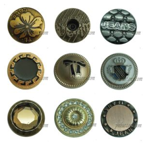 China Factory Wholesale Custom Metal Fashion Vintage Brass Denim Buttons Rivet for Jeans pictures & photos