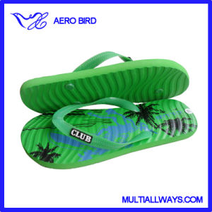 Male Hot-Press EVA Slipper with Bamboo Print pictures & photos