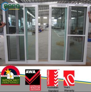 Efficient UPVC Tilt and Sliding Door with Safety Glazing pictures & photos