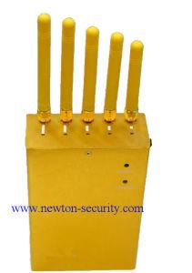 5 Antennas Golden Cellphone Jammer GPS Jammer Wi-Fi Jammer pictures & photos
