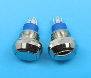 Momentary 4pins Waterproof Pushbutton Switch (GQ-12F-11) pictures & photos