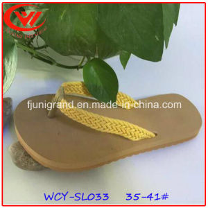 New Weave Upper Bohemia Style Sandals Slipper for Women pictures & photos