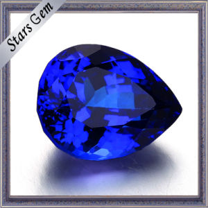 Popular Special Tanzanite Color Pear Cubic Zirconia for Jewelry pictures & photos