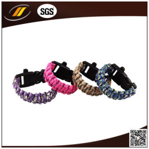 Colorful Braided Survival Bracelet with Fire Starter and Compass pictures & photos