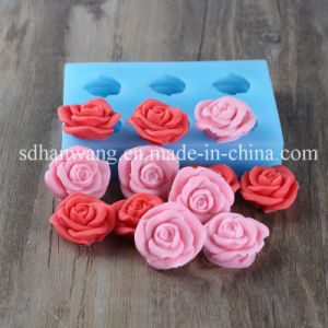 R0932 6 Cavities Flowers Shaped Silicone Moulds, Multi Silicon Soap Mold Flowers, DIY Valentines Chocolate Mould Flowers Shape
