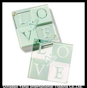 4mm Wedding Decorative Tempered Glass Coaster pictures & photos