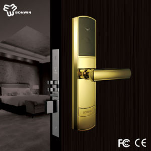 RFID Card Electronic Hotel Door Lock with PVD Coating pictures & photos
