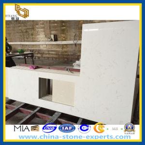 White Crystal Artificial Quartz Stone Kitchen Countertop (YQZ-QC1003) pictures & photos