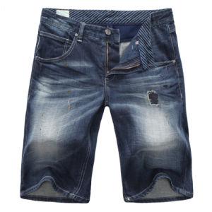 Men′s Navy Denim Cargo Walking Jeans Shorts Size 34 pictures & photos
