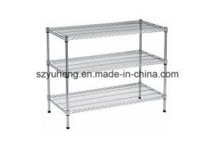 SGS Household Chrome Metal Display Shelf