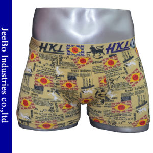 Fashion Style Modal Men′s Boxer with Belt Printed