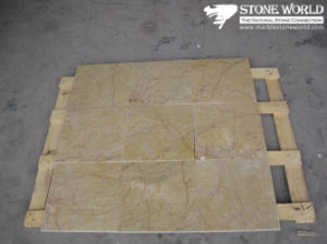 Polished Guang Yellow Marble Tile for Flooring/Wall pictures & photos