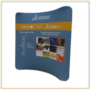 10ft Horizontal Curved Tension Fabric Exhibition Display pictures & photos