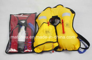 Marine CCS Certificate Single Air Chamber Inflatable Life Jacket pictures & photos