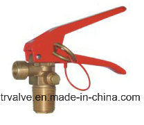 Brass CO2 Fire Extinguisher Valve Pz27.8 with Safety Device