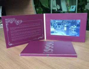 7inch Custom LCD Screen Video Cards From China pictures & photos
