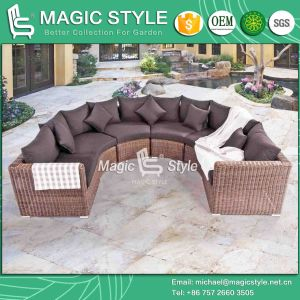 Rattan Corner Sofa Set Outdoor Wicker Sofa Set Combination Patio Sofa (Magic Style) pictures & photos