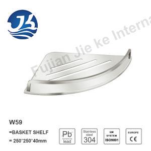 Corner Stainless Steel Bathroom Accessories Net/ Storage Rack Shelf (W59)