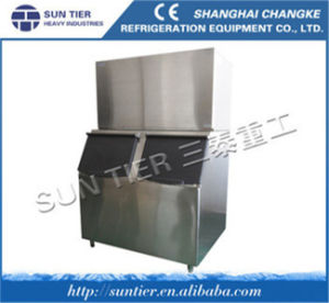 Cube Ice Maker/Water Dispenser Hot and Cold /Ice Maker Made in China pictures & photos