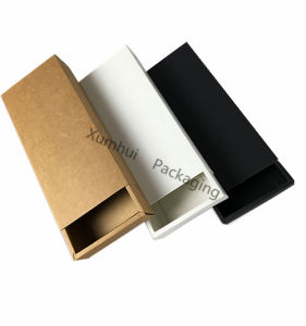 Recyclable Custom Design Brown /White /Black Kraft Paper Soap Box