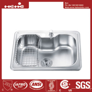Sink, Stainless Steel Top Mount Single Bowl Kitchen Sink pictures & photos