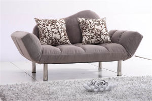 Folding Fabric Livingroom Sofa Bed pictures & photos