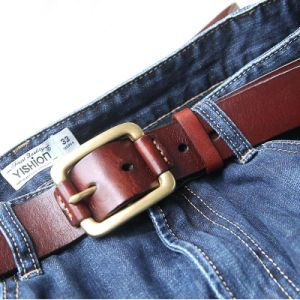 Fashion Leather and Rope Cross Belt Wholesale Custom Belts, Fashion Casual Mens Brown Genuine Leather Belts