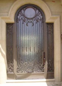 Sz-S001 Fantacy Luxury Wrought Iron Front Door with Side Lites pictures & photos