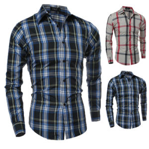 2017 Wholesale Custom Stripe Mens Leisure Dress Shirts (A444) pictures & photos